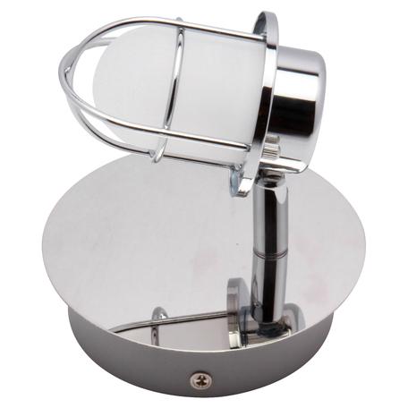Настенный светодиодный светильник с регулировкой направления света Lussole White Plains LSP-9926, IP21, LED 5W 4100K, хром, белый, металл, металл с пластиком