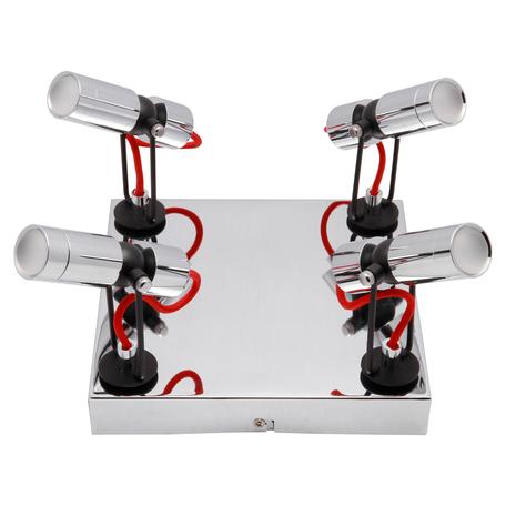 Потолочная светодиодная люстра с регулировкой направления света Lussole Rome LSP-9925, IP21, LED 20W 4100K, хром, металл