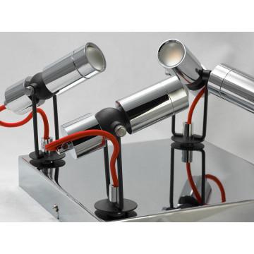 Потолочная светодиодная люстра с регулировкой направления света Lussole Rome LSP-9925, IP21, LED 20W 4100K, хром, металл - миниатюра 2