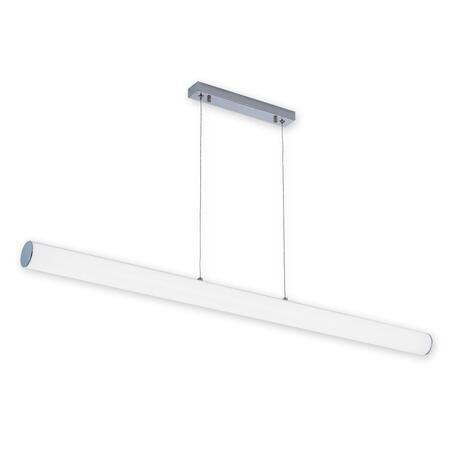 Подвесной светодиодный светильник Citilux Фауст CL721P36N, IP42, LED 36W 4000K 3240lm, хром, белый, металл, пластик