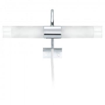 Настенный светильник для подсветки зеркал Eglo Granada 85816, 2xG9x33W, хром, белый, металл, стекло