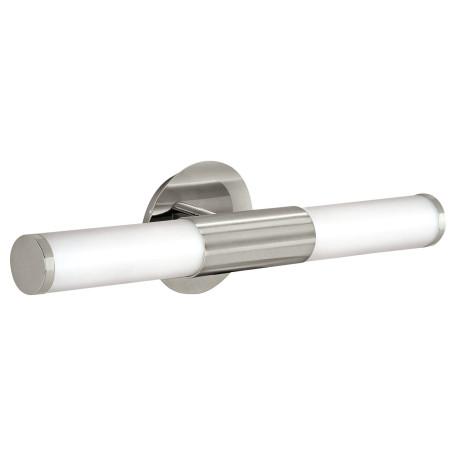 Настенный светильник Eglo Palmera 87222, IP44, 2xE14x40W, никель, белый, металл, стекло