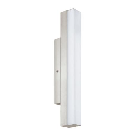 Настенный светодиодный светильник Eglo Torretta 94616, IP44, LED 8W 4000K 770lm CRI>90, никель, металл, пластик