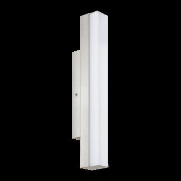 Настенный светодиодный светильник Eglo Torretta 94616, IP44, LED 8W 4000K 770lm, никель, металл, пластик