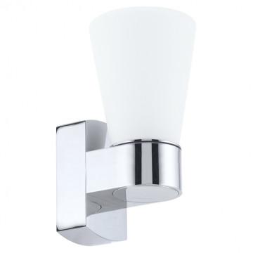 Настенный светильник Eglo Cailin 94988, IP44, 1xG9x2,5W, хром, белый, металл, стекло