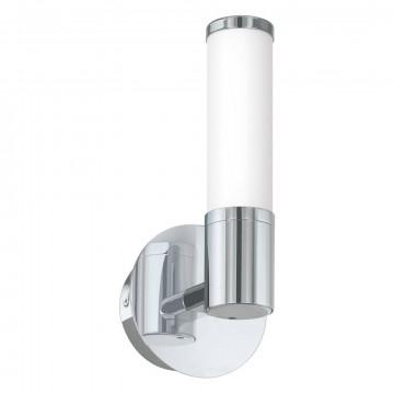 Настенный светодиодный светильник Eglo Palmera 1 95141, IP44, LED 4,5W 3000K 480lm CRI>80, хром, металл, стекло