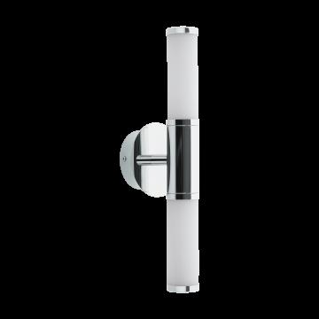 Настенный светодиодный светильник Eglo Palmera 1 95142, IP44, LED 9W 3000K 960lm, хром, белый, металл, стекло
