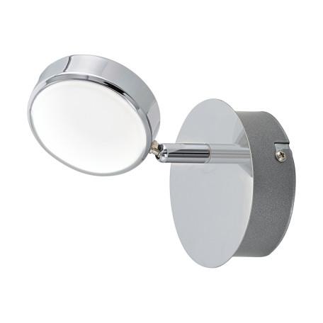 Настенный светодиодный светильник с регулировкой направления света Eglo Salto 95628, LED 5,4W 3000K 640lm, хром, металл, металл с пластиком, пластик