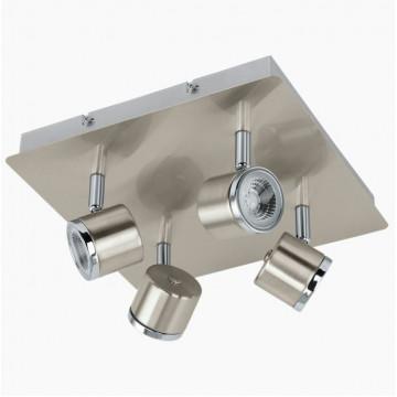 Потолочная светодиодная люстра с регулировкой направления света Eglo Pierino 93696, LED 20W, 3000K (теплый), никель, хром, металл