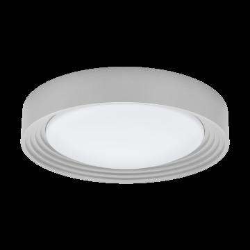 Потолочный светодиодный светильник Eglo Ontaneda 1 95692, IP44, LED 11W 3000K 850lm, серебро, пластик