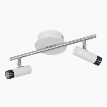 Потолочный светодиодный светильник с регулировкой направления света Eglo Lianello 93809, LED 10W, белый, хром, черный, металл