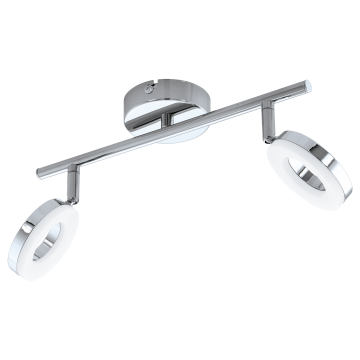 Потолочный светодиодный светильник с регулировкой направления света Eglo Gonaro 94757, IP44, LED 7,6W 3000K 720lm CRI>80, хром, металл, металл с пластиком, пластик