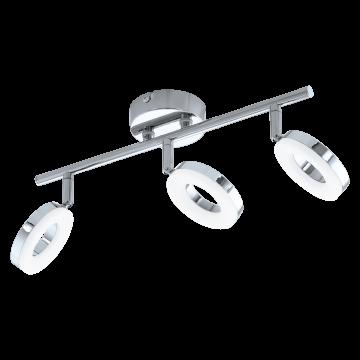 Потолочный светодиодный светильник с регулировкой направления света Eglo Gonaro 94758, IP44, LED 11,4W 3000K 1080lm CRI>80, хром, металл, металл с пластиком, пластик