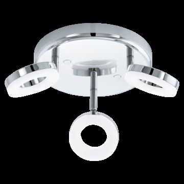 Потолочная светодиодная люстра с регулировкой направления света Eglo Gonaro 94762, IP44, LED 11,4W 3000K 1080lm CRI>80, хром, металл, металл с пластиком, пластик