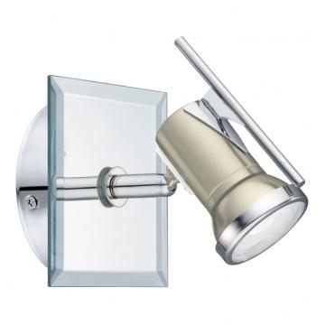 Настенный светильник с регулировкой направления света Eglo Tamara 1 94981, IP44, 1xGU10x3,3W, прозрачный, хром, никель, металл, стекло