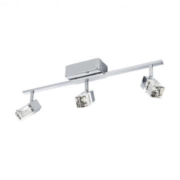 Потолочный светодиодный светильник с регулировкой направления света Eglo Cantil 95294, LED 9,9W 3000K 1020lm, хром, прозрачный, металл, пластик