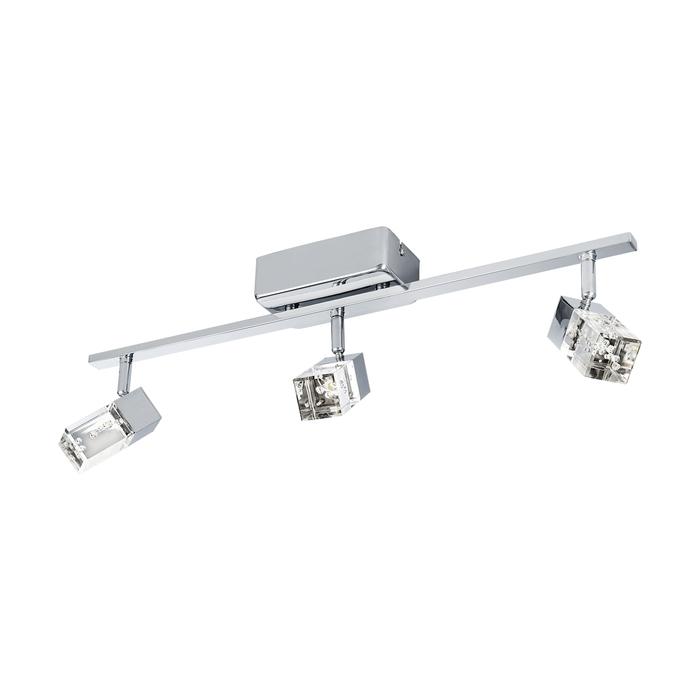 Потолочный светодиодный светильник с регулировкой направления света Eglo Cantil 95294, хром, прозрачный, металл, пластик - фото 1