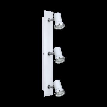 Потолочный светильник с регулировкой направления света Eglo Tamara 1 95994, IP44, 3xGU10x3,3W, белый, стекло, металл