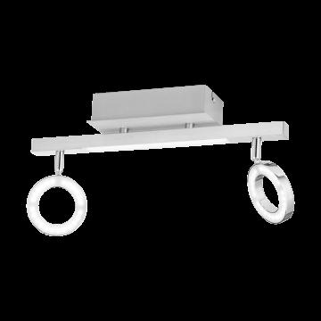 Потолочный светодиодный светильник с регулировкой направления света Eglo Cardillio 1 96179, 3000K (теплый), алюминий, хром, белый, металл, пластик
