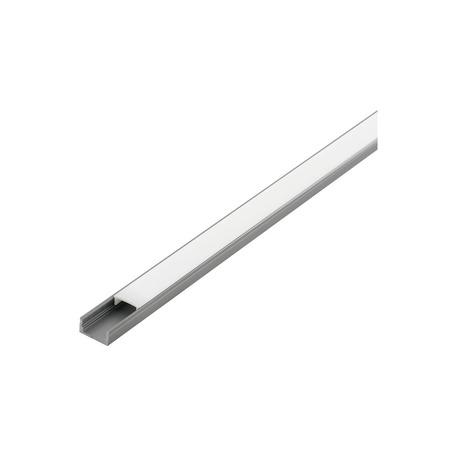 Профиль для светодиодной ленты с рассеивателем Eglo Surface Profile 1 98911, алюминий, белый, металл, пластик