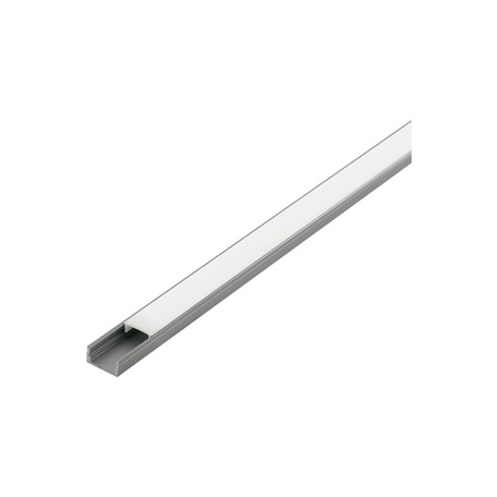 Профиль для светодиодной ленты с рассеивателем Eglo Surface Profile 1 98912, алюминий, белый, металл, пластик