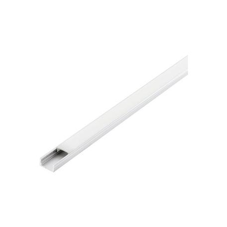 Профиль для светодиодной ленты с рассеивателем Eglo Surface Profile 1 98914, белый, металл, пластик