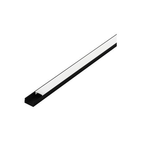 Профиль для светодиодной ленты с рассеивателем Eglo Surface Profile 1 98917, черный, белый, металл, пластик