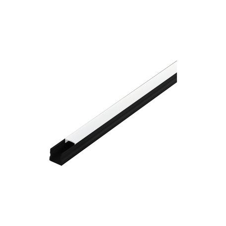 Профиль для светодиодной ленты с рассеивателем Eglo Surface Profile 2 98927, черный, белый, металл, пластик