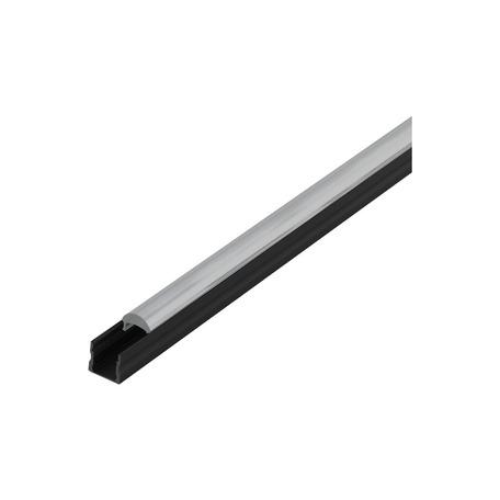 Профиль для светодиодной ленты с рассеивателем Eglo Surface Profile 3 98938, черный, прозрачный, металл, пластик