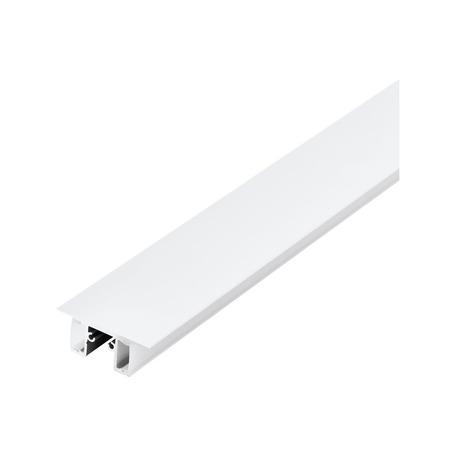 Профиль для светодиодной ленты с рассеивателем Eglo Surface Profile 4 98972, белый, металл, пластик