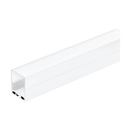 Профиль для светодиодной ленты с рассеивателем Eglo Surface Profile 6 99009, белый, металл, пластик