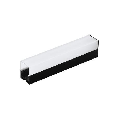 Профиль для светодиодной ленты с рассеивателем Eglo Surface Profile 6 99011, черный, белый, металл, пластик