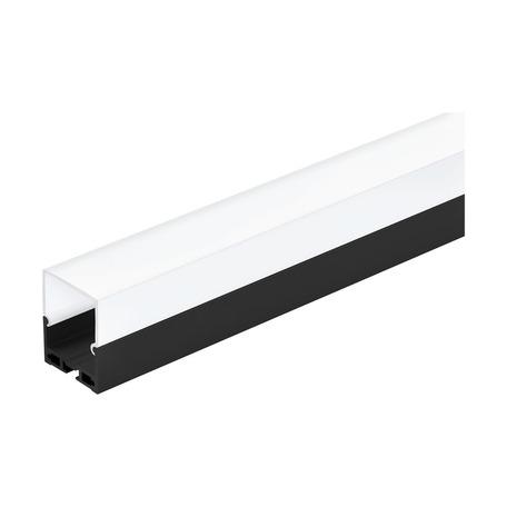 Профиль для светодиодной ленты с рассеивателем Eglo Surface Profile 6 99012, черный, белый, металл, пластик