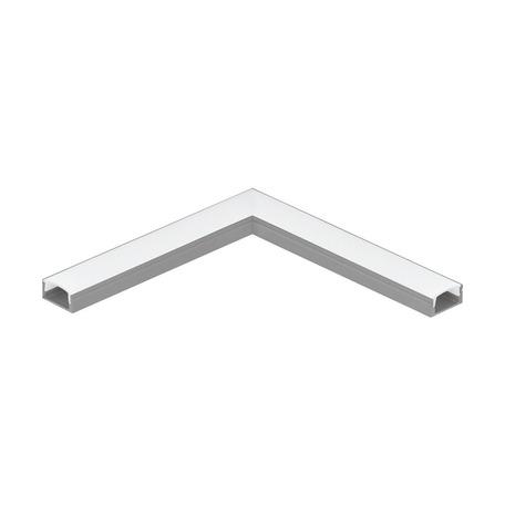 Угловой профиль для светодиодной ленты с рассеивателем Eglo Surface Profile 1 98913, алюминий, белый, металл, пластик