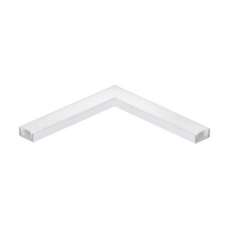 Угловой профиль для светодиодной ленты с рассеивателем Eglo Surface Profile 1 98916, белый, металл, пластик