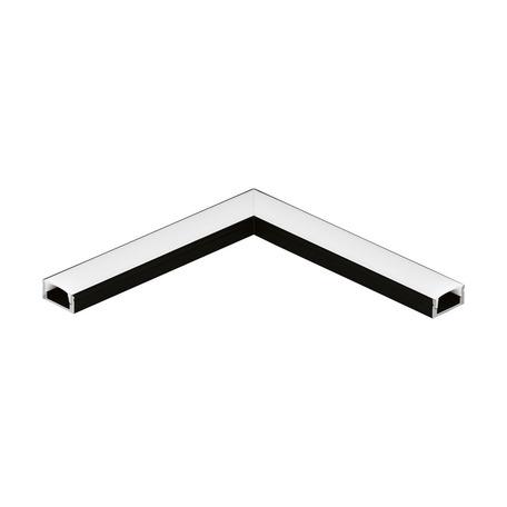 Угловой профиль для светодиодной ленты с рассеивателем Eglo Surface Profile 1 98919, черный, белый, металл, пластик