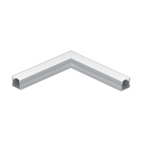 Угловой профиль для светодиодной ленты с рассеивателем Eglo Surface Profile 2 98923, алюминий, белый, металл, пластик
