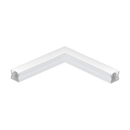 Угловой профиль для светодиодной ленты с рассеивателем Eglo Surface Profile 2 98926, алюминий, белый, металл, пластик