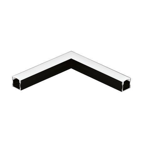 Угловой профиль для светодиодной ленты с рассеивателем Eglo Surface Profile 2 98929, черный, белый, металл, пластик