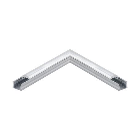 Угловой профиль для светодиодной ленты с рассеивателем Eglo Surface Profile 3 98933, алюминий, прозрачный, металл, пластик