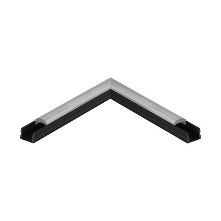 Угловой профиль для светодиодной ленты с рассеивателем Eglo Surface Profile 3 98939, черный, белый, металл, пластик