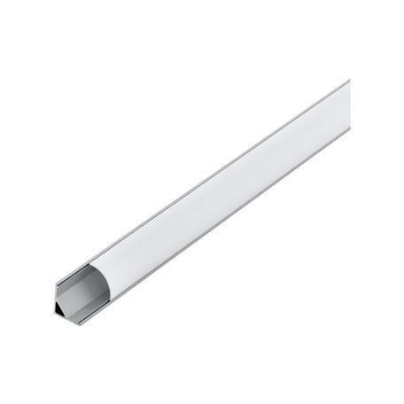 Угловой профиль для светодиодной ленты с рассеивателем Eglo Corner Profile 1 98941, алюминий, белый, металл, пластик