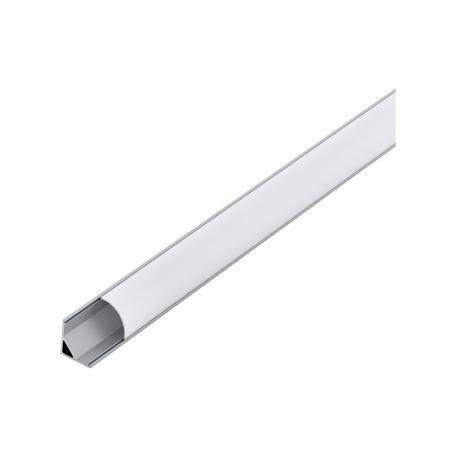 Угловой профиль для светодиодной ленты с рассеивателем Eglo Corner Profile 1 98942, алюминий, белый, металл, пластик