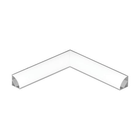 Угловой профиль для светодиодной ленты с рассеивателем Eglo Corner Profile 1 98943, алюминий, белый, металл, пластик