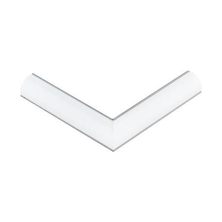 Угловой профиль для светодиодной ленты с рассеивателем Eglo Corner Profile 1 98944, алюминий, белый, металл, пластик