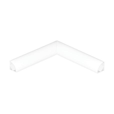 Угловой профиль для светодиодной ленты с рассеивателем Eglo Corner Profile 1 98947, белый, металл, пластик
