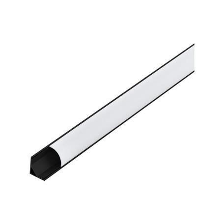Угловой профиль для светодиодной ленты с рассеивателем Eglo Corner Profile 1 98951, черный, белый, металл, пластик