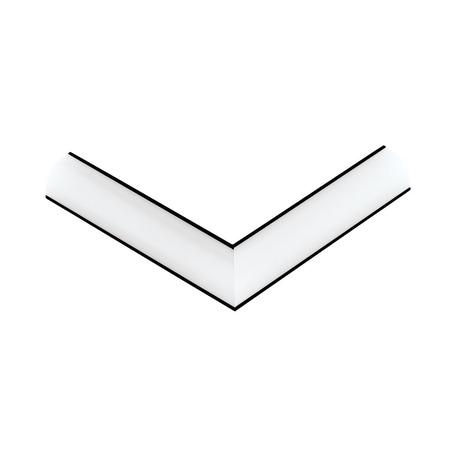 Угловой профиль для светодиодной ленты с рассеивателем Eglo Corner Profile 1 98953, черный, белый, металл, пластик
