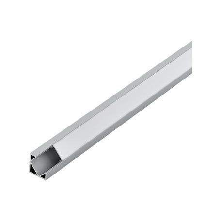 Угловой профиль для светодиодной ленты с рассеивателем Eglo Corner Profile 2 98955, алюминий, белый, металл, пластик