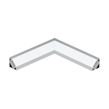 Угловой профиль для светодиодной ленты с рассеивателем Eglo Corner Profile 2 98956, алюминий, белый, металл, пластик